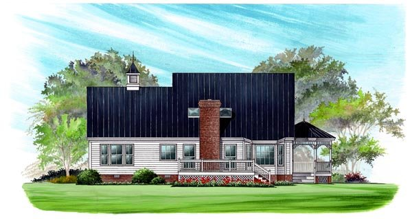 Country Farmhouse Victorian House Plan 86246 Rear Elevation