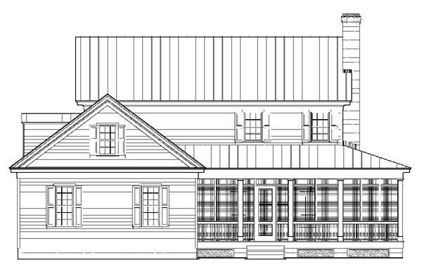 Colonial Country Farmhouse Traditional House Plan 86248 Rear Elevation
