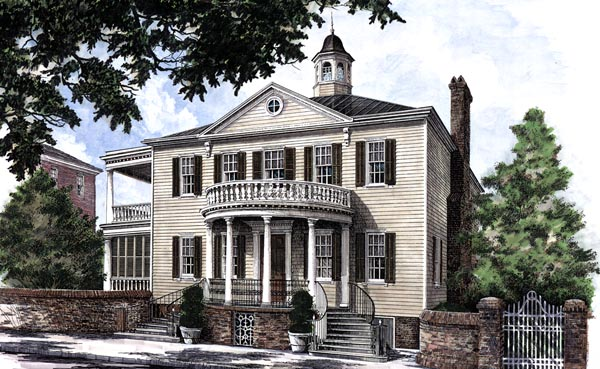 Colonial Southern House Plan 86253 Elevation