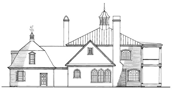 Colonial Southern House Plan 86253 Rear Elevation
