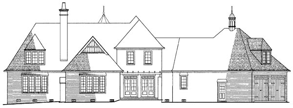 European House Plan 86255 Rear Elevation