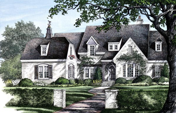 Country European House Plan 86256 Elevation