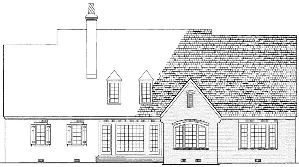 Country European House Plan 86256 Rear Elevation