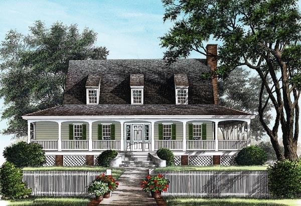 Farmhouse Traditional House Plan 86257 Elevation
