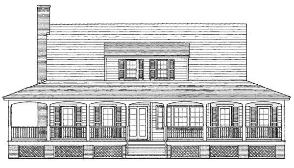 Farmhouse Traditional House Plan 86257 Rear Elevation