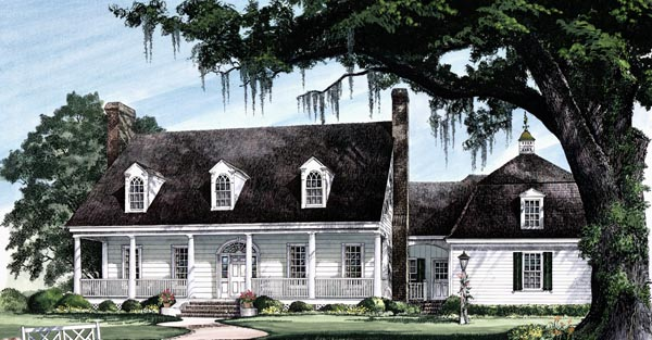 Cape Cod Colonial Cottage Country Southern Traditional House Plan 86258 Elevation
