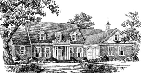 Plantation Ranch Traditional House Plan 86259 Elevation