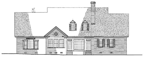 Plantation Ranch Traditional House Plan 86259 Rear Elevation