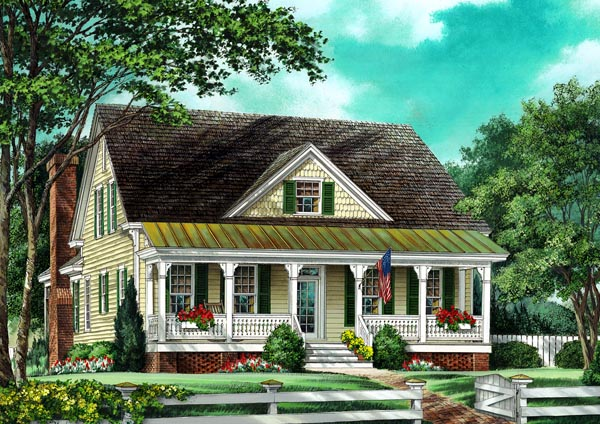 Cottage Country Farmhouse Traditional House Plan 86261 Elevation