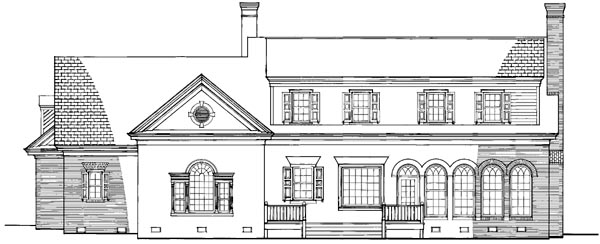 Colonial Traditional House Plan 86267 Rear Elevation
