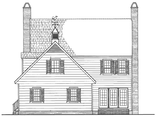 Colonial Traditional House Plan 86272 Rear Elevation