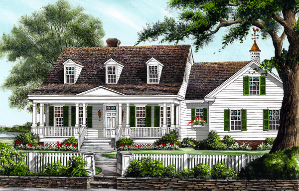 House Plan at FamilyHomePlans comColonial Cottage Country Southern House Plan Elevation