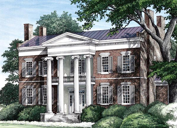 House plan 86274 at for Southern plantation house plans