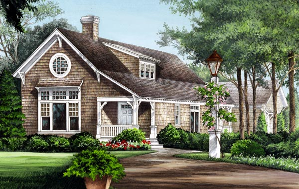 Cape Cod Country Craftsman Traditional House Plan 86276 Elevation