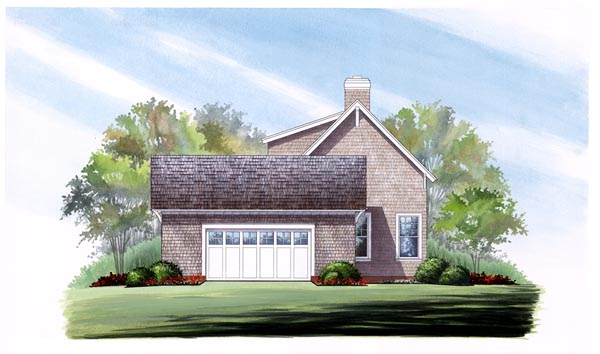 Cape Cod Country Craftsman Traditional House Plan 86276 Rear Elevation