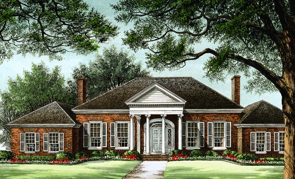 Colonial Southern Traditional House Plan 86279 Elevation