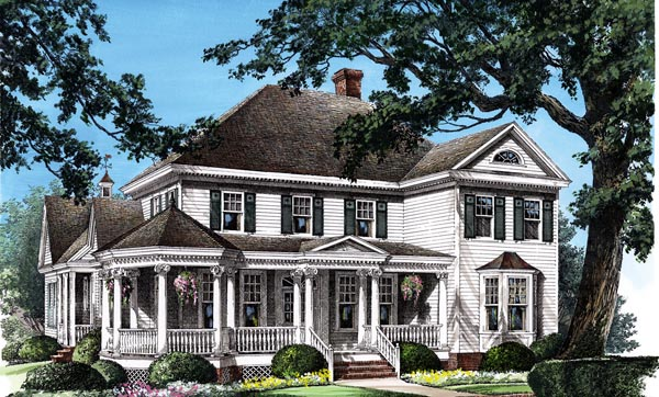 Elevation of Colonial   Farmhouse  Southern   Victorian   House Plan 86280
