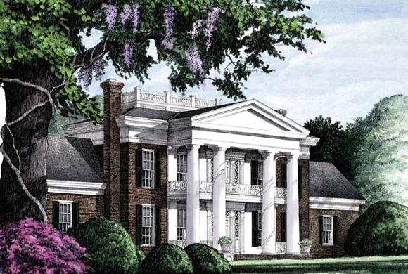 Colonial, Plantation, Southern House Plan 86283 with 4 Beds, 5 Baths, 3 Car Garage Elevation