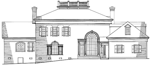 Colonial Plantation Southern House Plan 86283 Rear Elevation