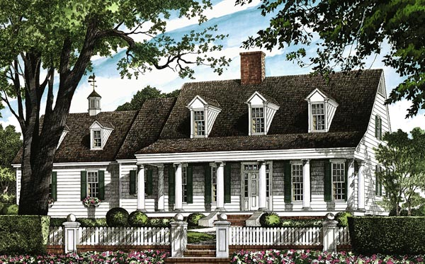 Colonial Southern Traditional House Plan 86286 Elevation