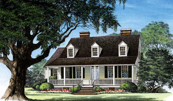Cottage Country Farmhouse Traditional House Plan 86289 Elevation