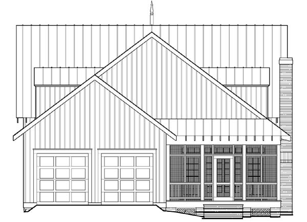 Cottage Country Farmhouse House Plan 86295 Rear Elevation
