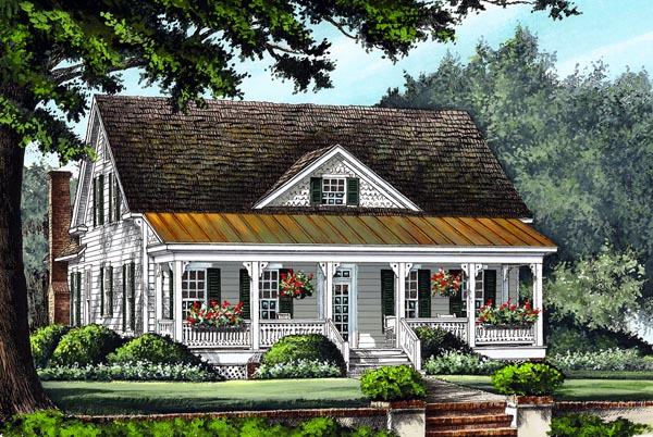 Farmhouse Traditional House Plan 86299 Elevation