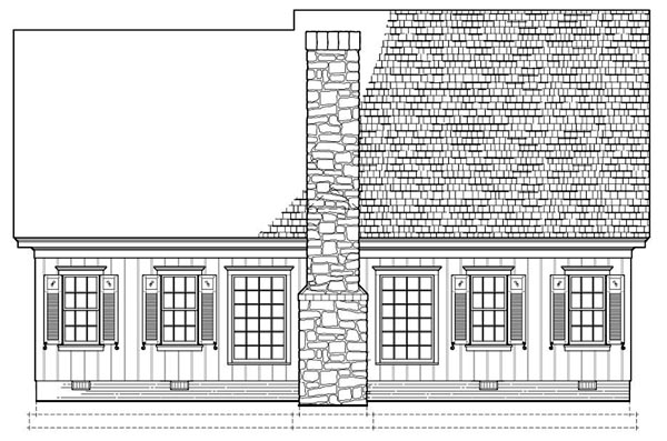 Traditional House Plan 86300 Rear Elevation
