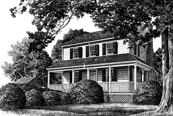 Cottage, Country, Farmhouse, Traditional House Plan 86305 with 3 Beds, 3 Baths, 2 Car Garage Elevation