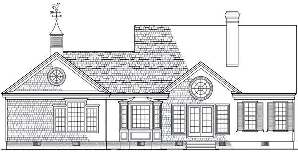 Cottage Country House Plan 86309 Rear Elevation