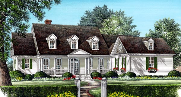 Cottage Country Farmhouse House Plan 86311 Elevation