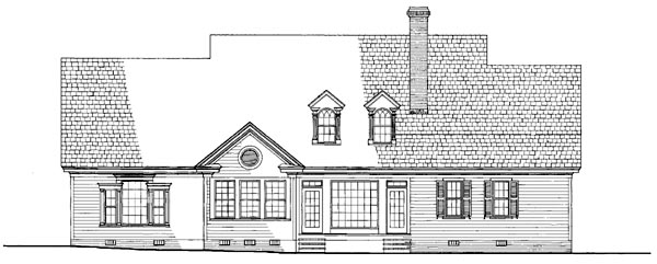 Cottage Country Farmhouse House Plan 86311 Rear Elevation