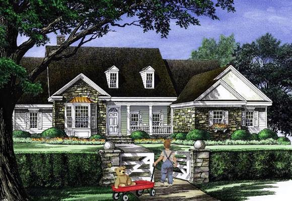 Cottage, Country, Farmhouse, Traditional House Plan 86314 with 4 Beds, 3 Baths, 2 Car Garage Elevation