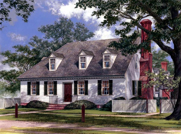 Colonial Traditional House Plan 86317 Elevation