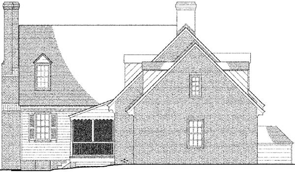 Colonial Traditional House Plan 86317 Rear Elevation