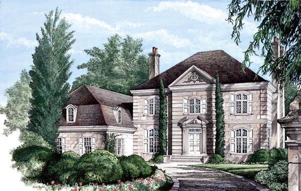 European Plantation House Plan 86320 Elevation