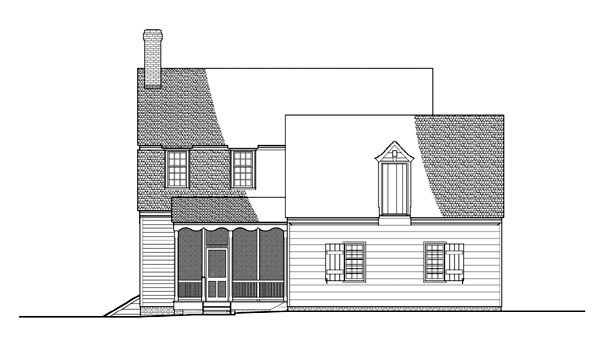Colonial Traditional House Plan 86323 Rear Elevation