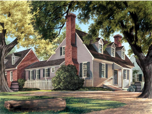 Cape Cod Colonial House Plan 86326 Elevation