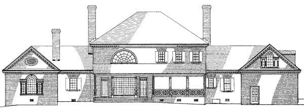 Colonial Plantation House Plan 86333 Rear Elevation