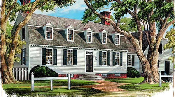 Colonial Traditional House Plan 86334 Elevation