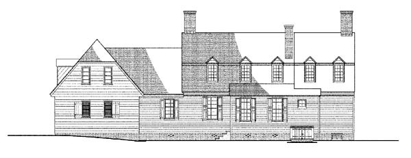 Colonial Traditional House Plan 86334 Rear Elevation