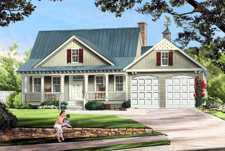 Cottage Country Farmhouse House Plan 86341 Elevation