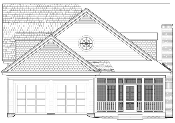 Bungalow Cottage Country Craftsman House Plan 86346 Rear Elevation