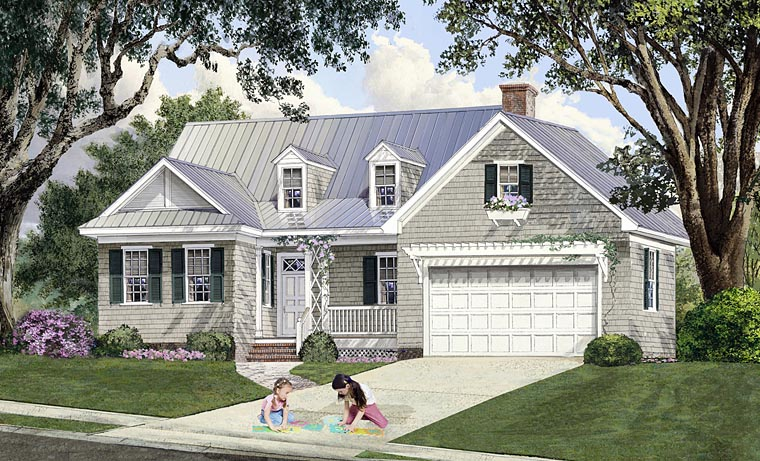 Cape Cod Cottage Country Craftsman Southern House Plan 86348 Elevation