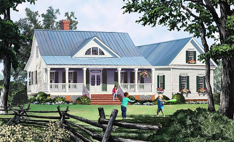 Country Southern Traditional House Plan 86349 Elevation