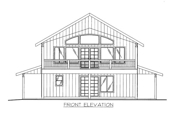 House Plan 86500 with 2 Beds, 3 Baths, 2 Car Garage Elevation
