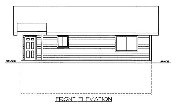 House Plan 86504 Elevation