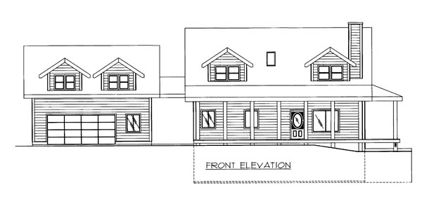 House Plan 86510 Elevation