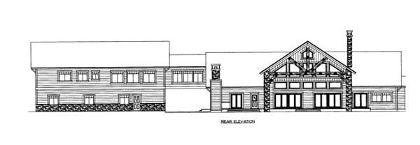 House Plan 86516 Rear Elevation