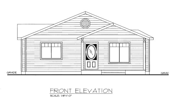 House Plan 86541 with 3 Beds, 2 Baths, 3 Car Garage Elevation